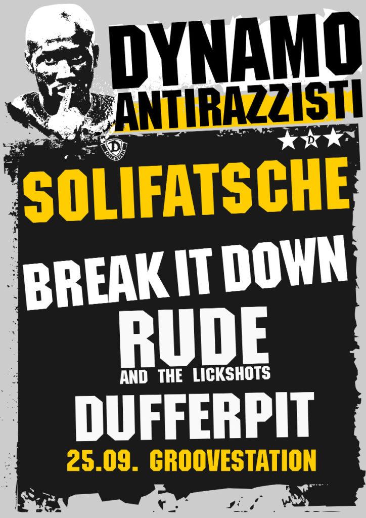 Dynamo Antirazzisti Party in der Groovestation