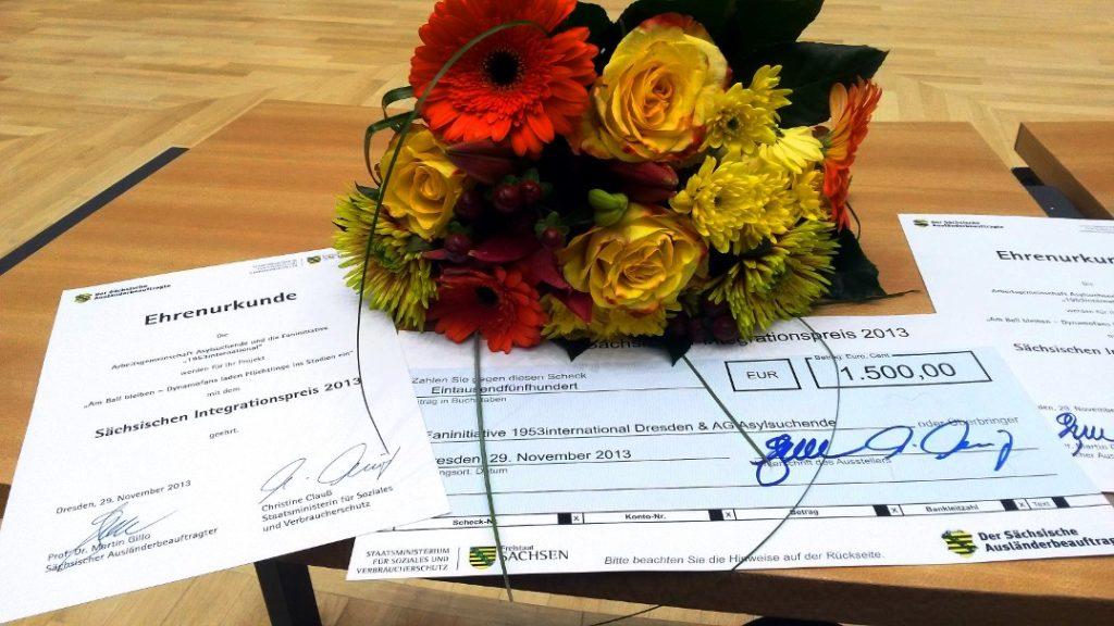 Auszeichnung mit dem Sächsischen Integrationspreis