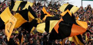Schwarz-Gelb wehen unsere Fahnen!